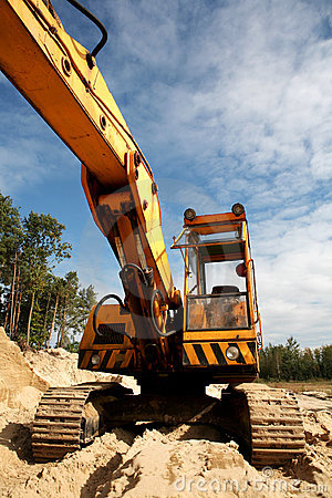 Front of sand digger