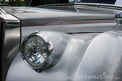 Front side of a classic car
