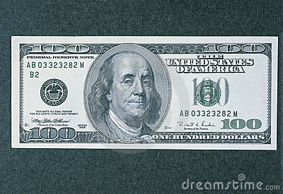 Front side of the new 100 dollar bill Editorial Stock Photo