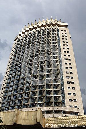 Front of skyscraper