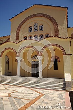 Front steps of Gerasssimos Monastrey