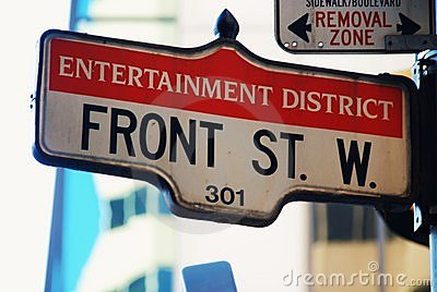 Front Street - in the Toronto entertainment area