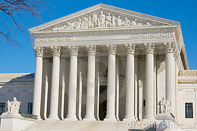 The front of the US Supreme Court