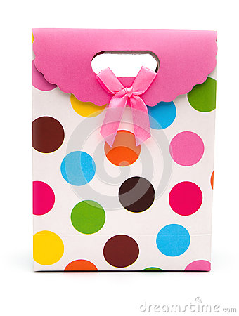Front view colorful gift box