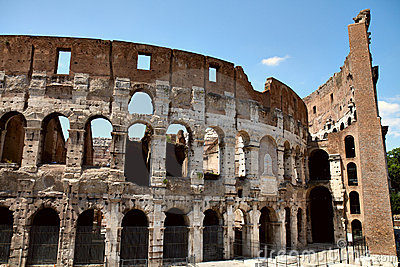 Front view of Colosseum