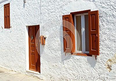 Front view of door and windows