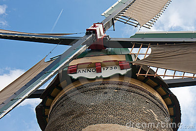 Front view form a traditional Dutch windmill