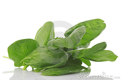 Front view of fresh spinach, vegetarian food