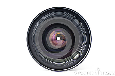 Front view of a lens