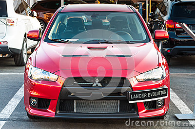 Mitsubishi Lancer Evolution car Editorial Stock Photo