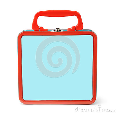 Free Front View Of Tin Lunch Box Royalty Free Stock Image - 78632686