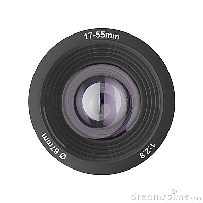 Front view of photographic lens
