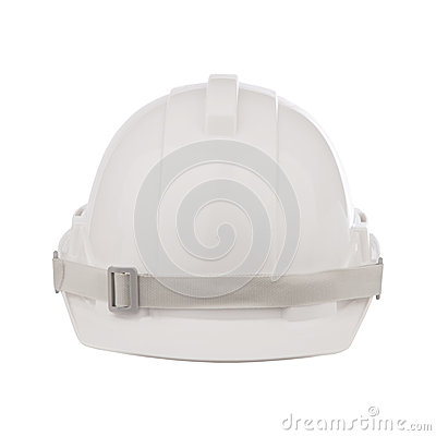 Front view of safety helmet cap isolated white