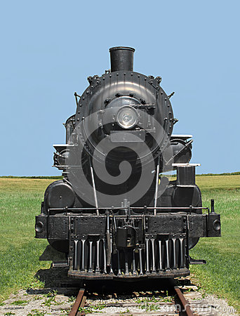 Free Front View Train Steam Locomotive. Royalty Free Stock Photos - 27206938