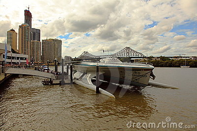Front view of Turanor Planet Solar Brisbane River Editorial Photography