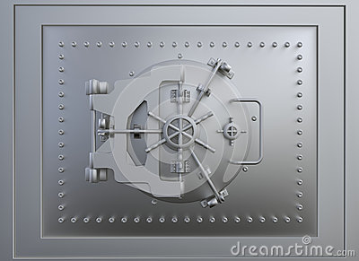 Front view of a vault door