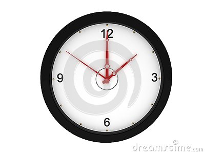Front view of wall clock