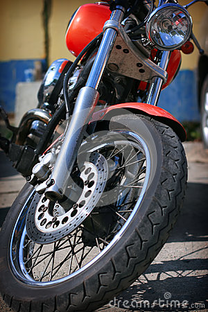Front wheel of the motorcycle