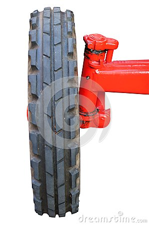 Front wheel from a tractor