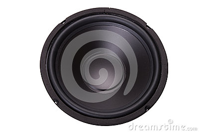 Front of woofer