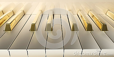 Gold Piano front