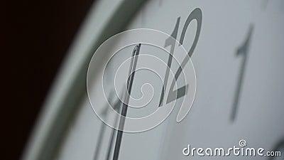 Fronte di orologio stock footage