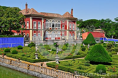 Fronteira Palace in Lisbon, Portugal Editorial Photography