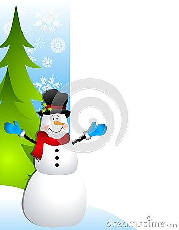 Frontera de la Navidad del muñeco de nieve