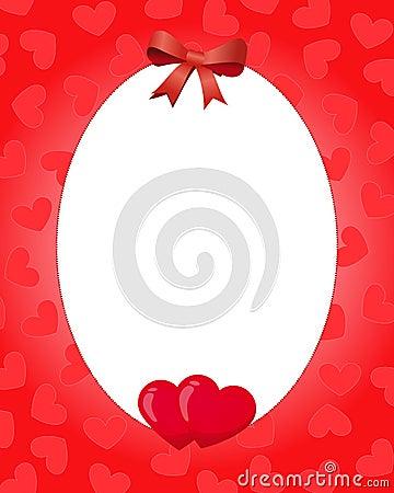 Frontera de la tarjeta del día de San Valentín