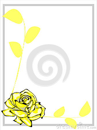 Frontera de Rose amarilla