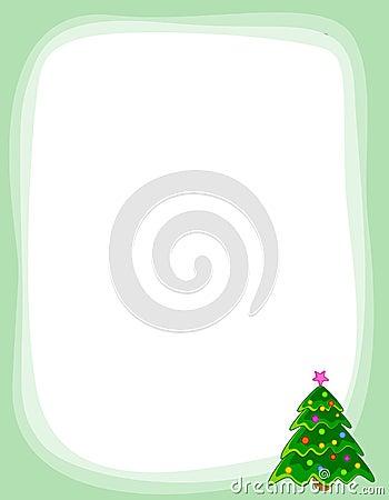 Frontera del árbol de navidad