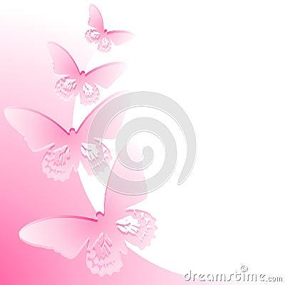 Frontera rosada de la mariposa