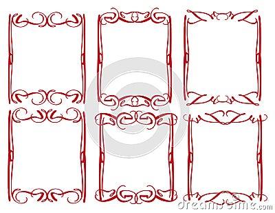 Frontière décorative de conception de vintage