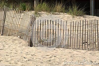 Frontière de sécurité dans les dunes