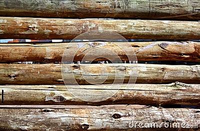 Frontière de sécurité en bois
