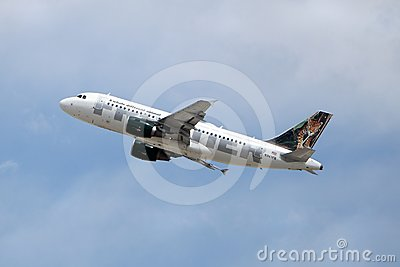 Frontier Airlines Airbus A319-111 N947FR Maya  Editorial Stock Image
