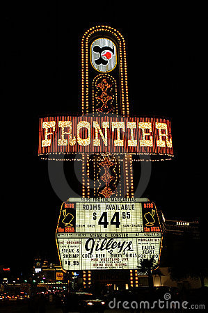Frontier hotel sign Editorial Photography