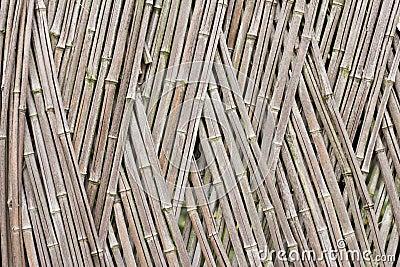 Frontière de sécurité en bambou