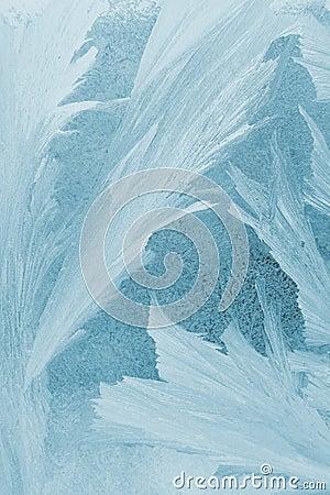 Frost pattern on window glass