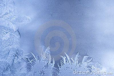 Frost pattern on a window glass
