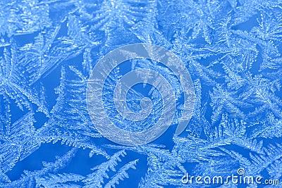 Frost on a window