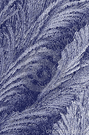 Frost on a window