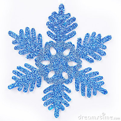 Frosted blue snowflake