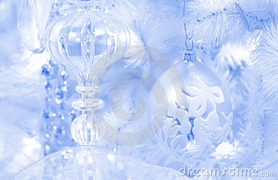 Frosted christmas background
