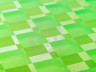Frosted Glass Checkerboard in Lime Green