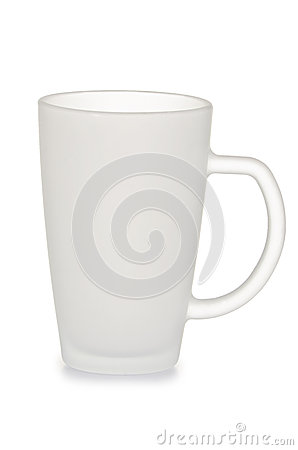 Frosted glass cup