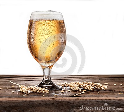 Free Frosted Glass Of Beer On The Wooden Table. Stock Photos - 114721363