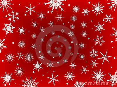 Frosted Snow Border - Red