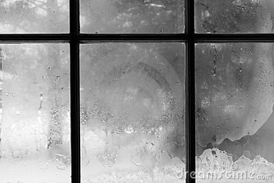 Frosted Window In Winter