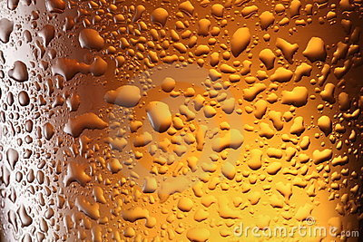 Frosty beer glass.